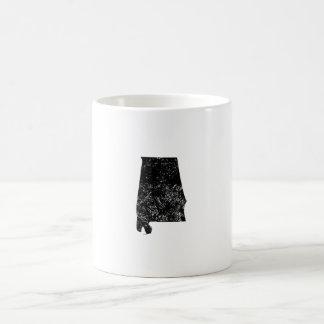 Distressed Alabama Silhouette Coffee Mugs
