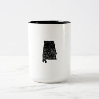 Distressed Alabama Silhouette Mug