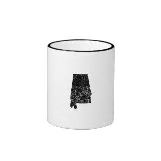 Distressed Alabama Silhouette Mugs