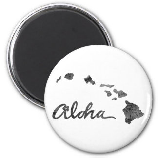 Distressed Aloha Island Magnet