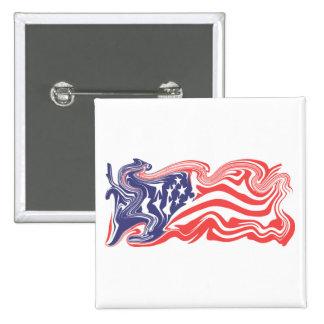 Distressed American Flag Pins