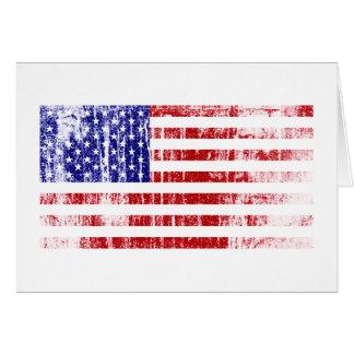 Distressed American Flag Card