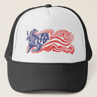 Distressed American Flag - Customizable Trucker Hat