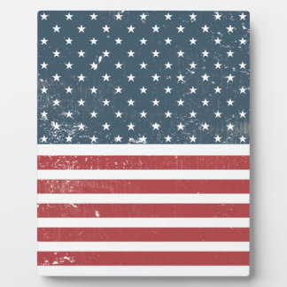 distressed american flag display plaques
