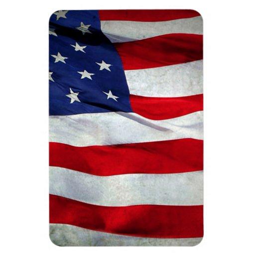 Distressed American Flag Rectangular Magnets