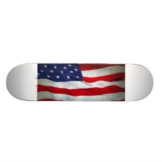 Distressed American Flag Skate Board