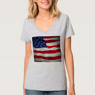 Distressed American Flag T Shirts