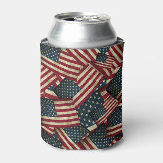 Distressed American Flags Can Cooler