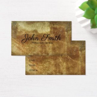 Distressed Ancient Photography Stained Background Business Card