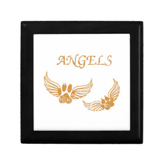 Distressed Angel Pet Paws Gift Box