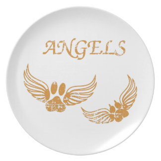 Distressed Angel Pet Paws Plate