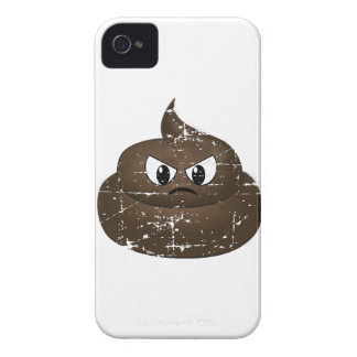 Distressed Angry Cartoon Poop iPhone 4 Cases