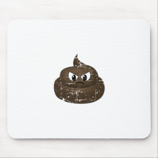 Distressed Angry Cartoon Poop Mouse Pad