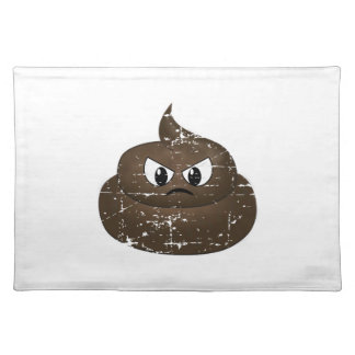 Distressed Angry Cartoon Poop Placemat