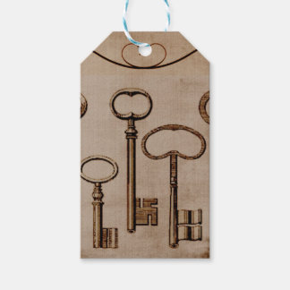 Distressed Antique Skeleton Keys Custom Gift Tags
