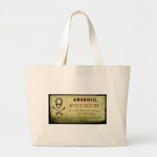 Distressed Arsenic Label Bag
