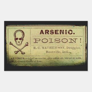Distressed Arsenic Label Rectangular Sticker