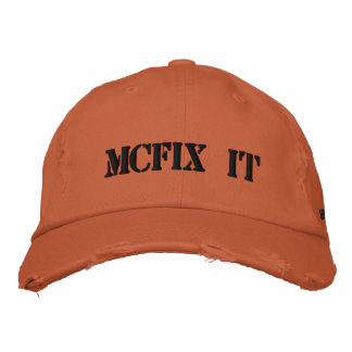 Distressed Ball Cap Embroidered Hat