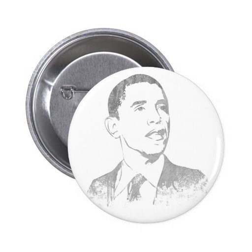 Distressed Barack Obama Buttons Pins
