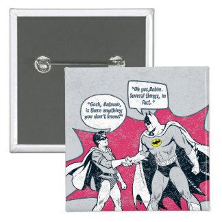 Distressed Batman And Robin Handshake Pin