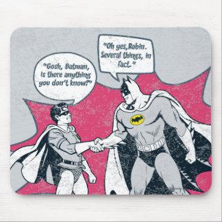 Distressed Batman And Robin Handshake Mouse Pad