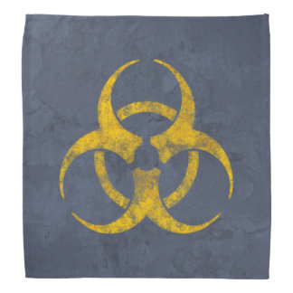 Distressed Biohazard Symbol Bandana