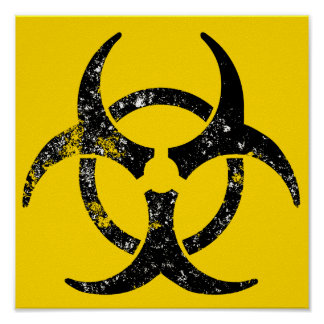Distressed biohazard symbol poster
