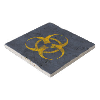 Distressed Biohazard Symbol Trivet
