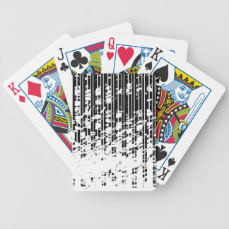 Distressed Black and White Pinstripe Bicycle Playing Cards