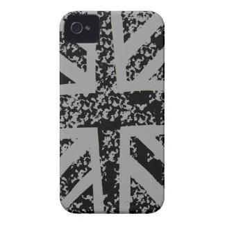 Distressed Black Union jack Case-Mate iPhone 4 Case