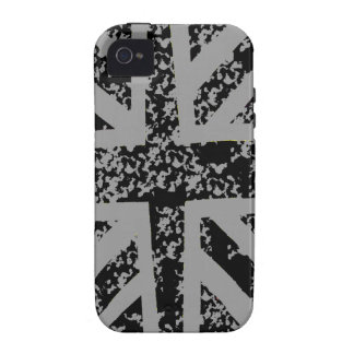 Distressed Black Union jack Case For The iPhone 4