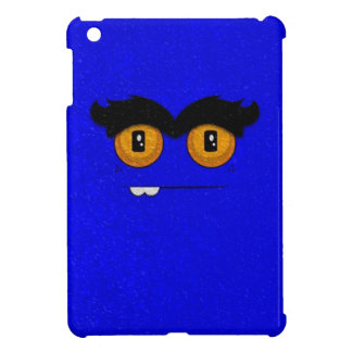 Distressed Blue Funny Face Unibrow Monster Case For The iPad Mini