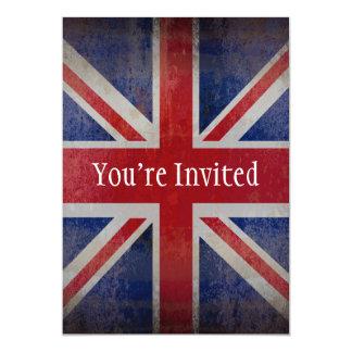 Distressed British Flag 13 Cm X 18 Cm Invitation Card
