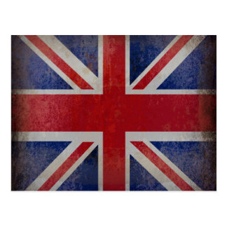 Distressed British Flag Postcard