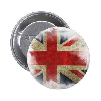 Distressed British Flag Union Jack 6 Cm Round Badge