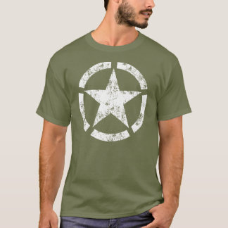 Distressed Broken Ring Star National Symbol T-Shirt