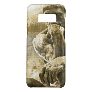 Distressed bronze statue Auguste Rodin the thinker Case-Mate Samsung Galaxy S8 Case