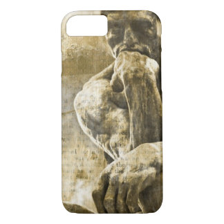 Distressed bronze statue Auguste Rodin the thinker iPhone 8/7 Case