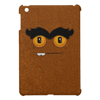 Distressed Brown Funny Face Unibrow Monster iPad Mini Case