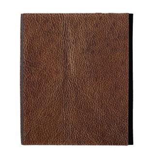 Distressed Brown Leather Look Printed Image iPad Cases