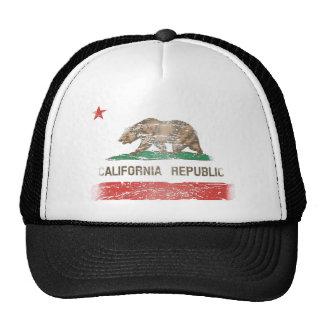 Distressed California Republic Flag Cap