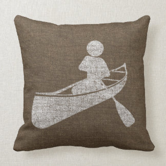 Distressed Canoeing At Play Pillow