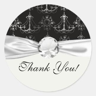 distressed chandelier black white round stickers