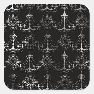 distressed chandelier black white stickers