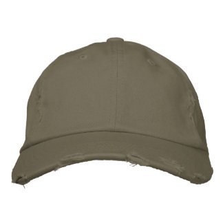 Distressed Chino Twill Cap for Men or Women Embroidered Baseball Cap