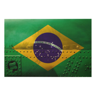 Distressed Country Flags | Brazil Wood Wall Decor