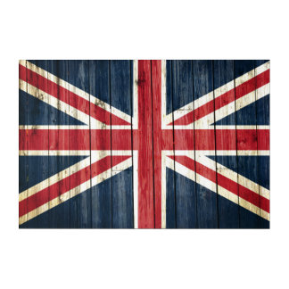 Distressed Country Flags | Great Britain Acrylic Print