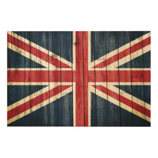 Distressed Country Flags   Great Britain Wood Wall Art