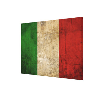 Distressed Country Flags   Italy Canvas Print