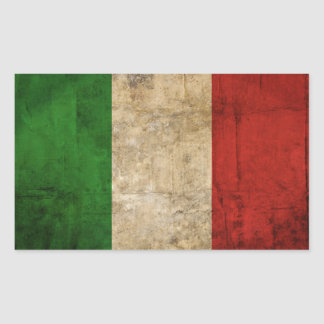 Distressed Country Flags | Italy Rectangular Sticker